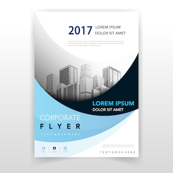 Light blue wavy flyer design