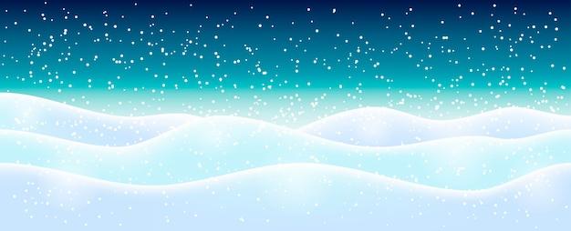 水色白のきらめく雪。冬の休日のイラスト