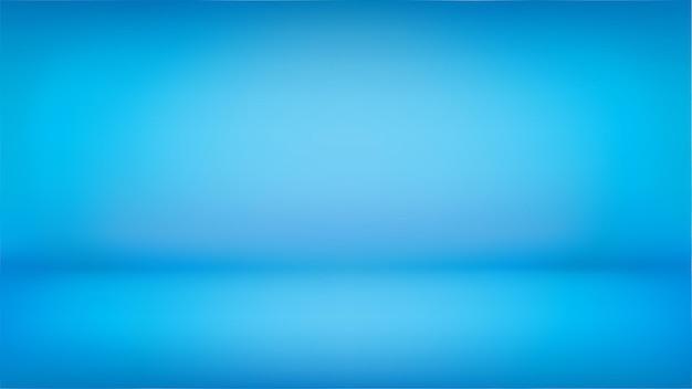 Голубой широкий фон, абстрактная стена в студии, можно использовать для презентации вашего продукта. абстрактная иллюстрация для обоев, слайдов и веб-сайтов