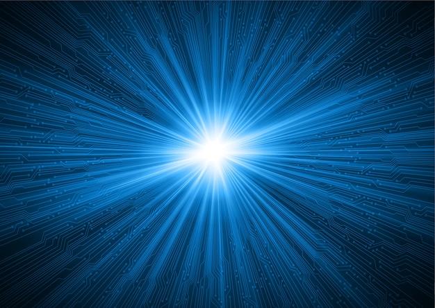 Светло-синий зум кибер абстрактный фон