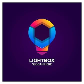 Light box awesome color logo design