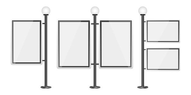 白い背景の上のライトボックステンプレートイラスト