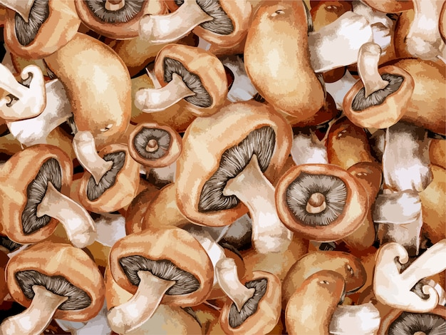Light brown mushrooms background illustration
