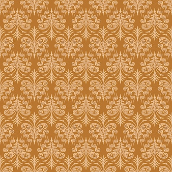 Light Brown Ornamental Swirl Background with Gold Fur