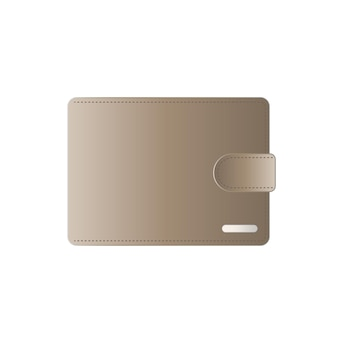 Light brown wallet   male wallet isolated