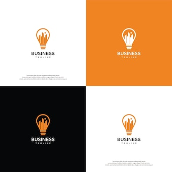 Light and building vector logo