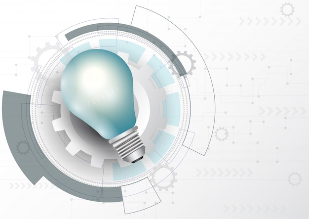 Light bulb business strategy plan concept.