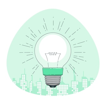 Light bulb concept illustration