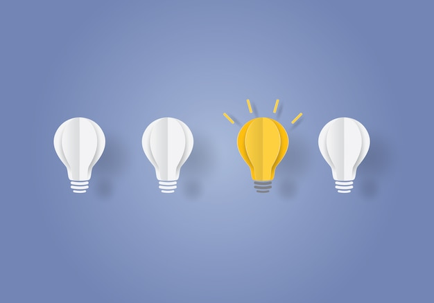 Light bulb concept inspiration business