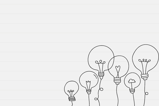 Light bulb doodle border