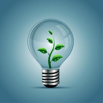 Light bulb, eco concept
