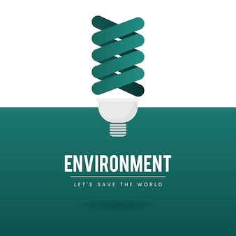Light bulb environmental conservation vector