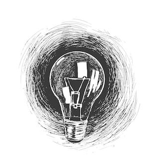 電球手描きスケッチベクトル図