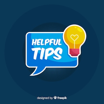 Light bulb helpful tip background