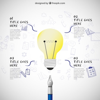 Bulb infographic luce