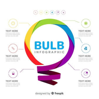 Light bulb infographics template