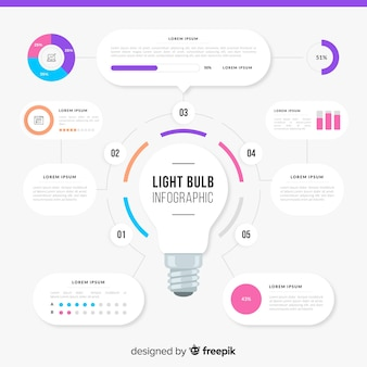 Light bulb infographics