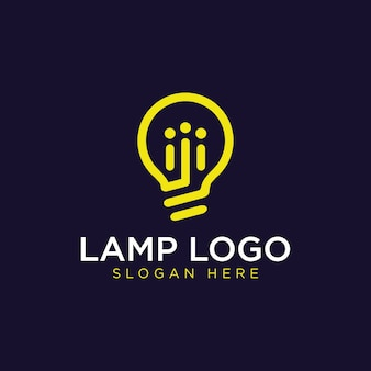 Light bulb lamp simple and modern, idea, creative, innovation, energy logo design inspiration