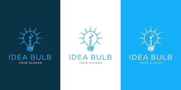 Light bulb, letter i logo template premium
