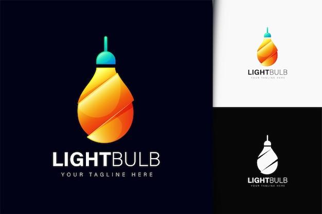 그라데이션이 있는 전구 로고 디자인