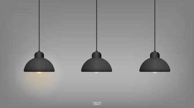 Лампочка или лампа с темным фоном