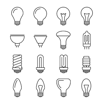 Light bulb outline icons