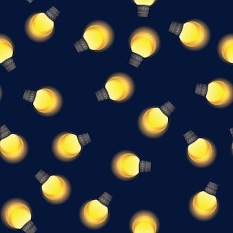 Бесшовные фон лампочки.