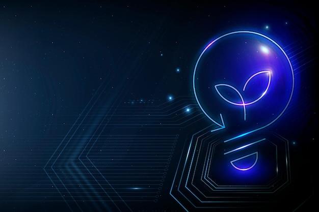 Лампочка векторный фон зеленой энергии технологии