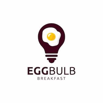 Light bulb with egg logo design
