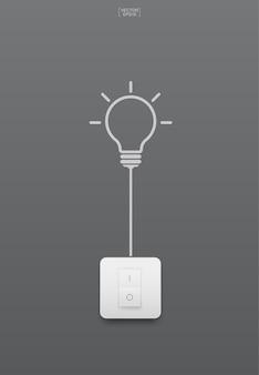 スイッチイラスト付き電球
