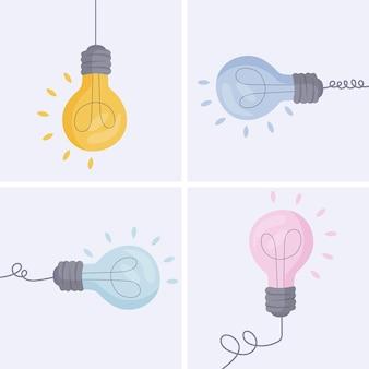 The light bulbs are set