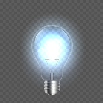 Light bulbs on background, led lightbulb.