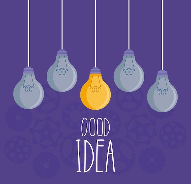 Light bulbs good idea hanging