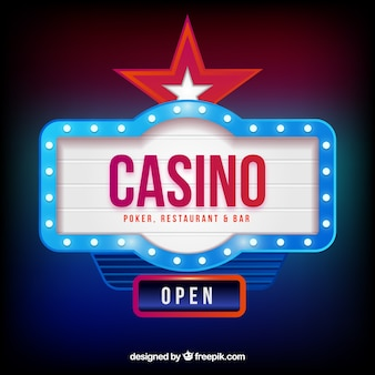 Light casino sign background