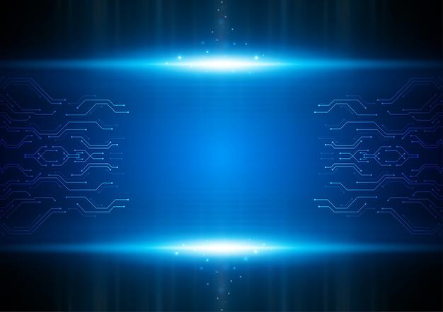 가벼운 회로 기술 벡터 개념입니다.