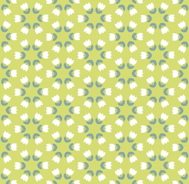 Light color tulip seamless vector pattern