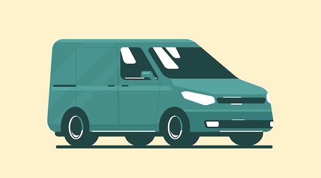 Легкий коммерческий автомобиль изолирован. векторная иллюстрация плоский стиль.