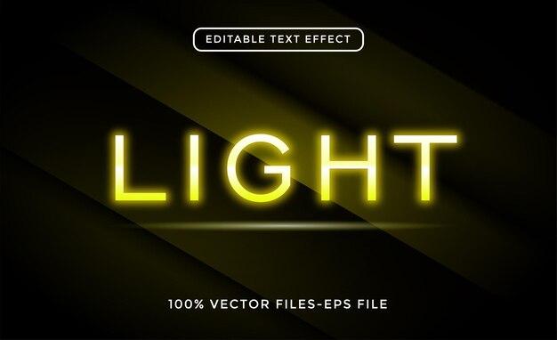 Легкий редактируемый текстовый эффект премиум векторы