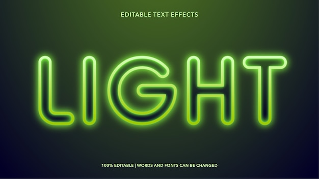 Легкие редактируемые текстовые эффекты