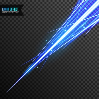 Light effect blue vector transparent with line swirl