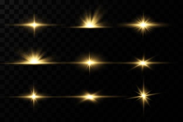 光の効果明るい星明るい夕日