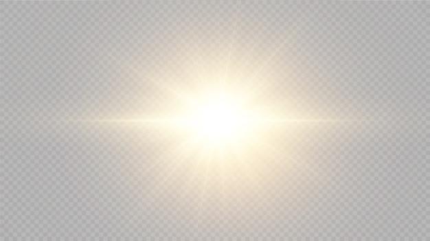 光の効果明るい星明るい太陽