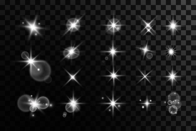 光の効果ブライトスターライトは透明で爆発します