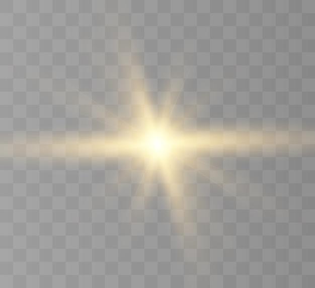 Световой эффект, яркая звезда, солнечное свечение.