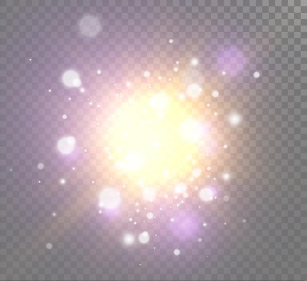 Световой эффект, космическая пыль, звезды, блики.