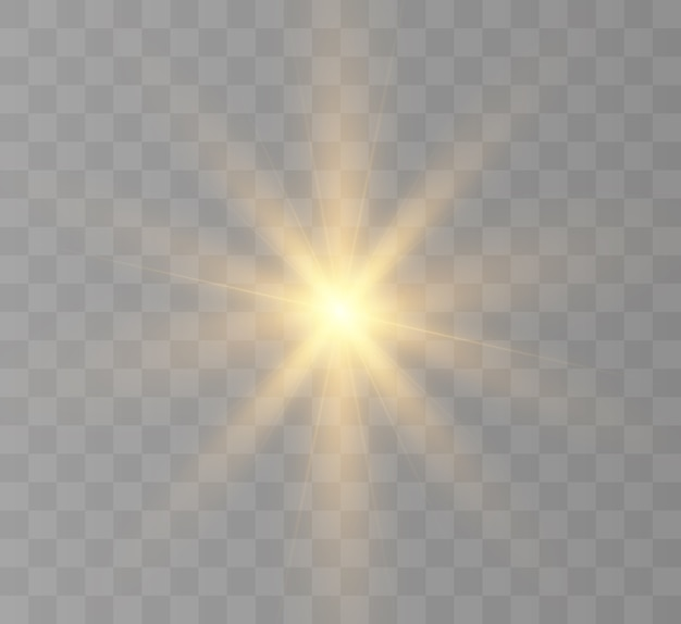 배경 및 삽화에 대한 조명 효과 새로운 별 밝은 태양