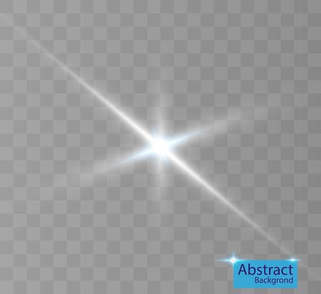背景やイラストの光の効果。