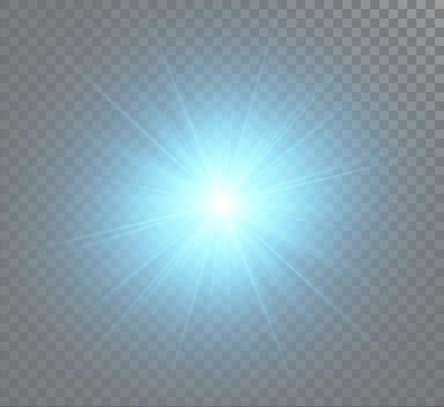 투명 배경에 고립 된 조명 효과