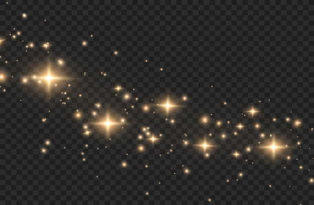 Light effect. sparkling magical dust particles
