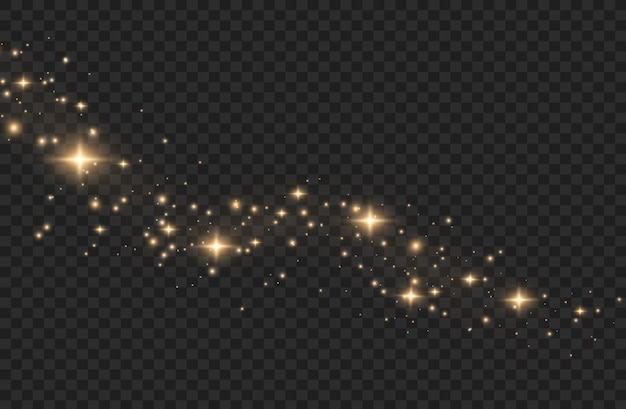 光の効果。きらめく魔法のほこりの粒子